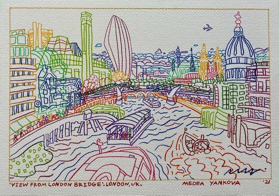 View From London Bridge, LDN, UK, '21