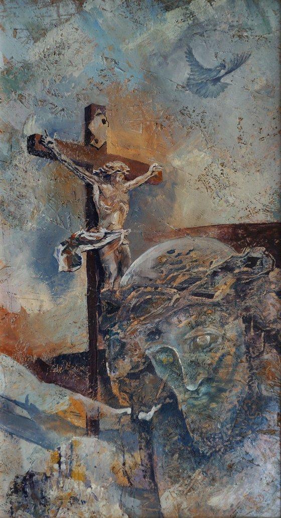 Crucifix Of Havihegy, Pécs  (hot wax on OSB)