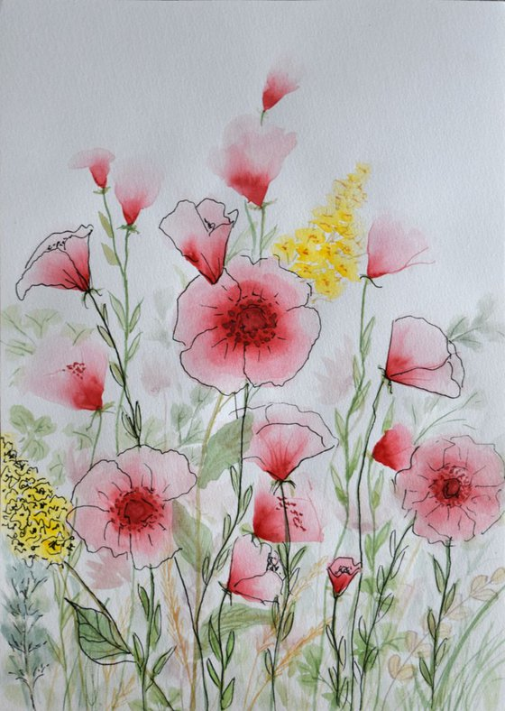 """Watercolour Flower's composition #11""21 х 29.7 (A4 size)"