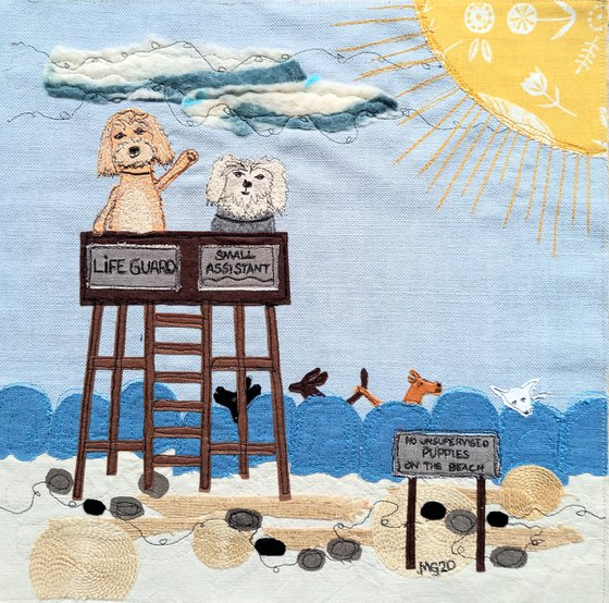 The Lifeguards-textile collage