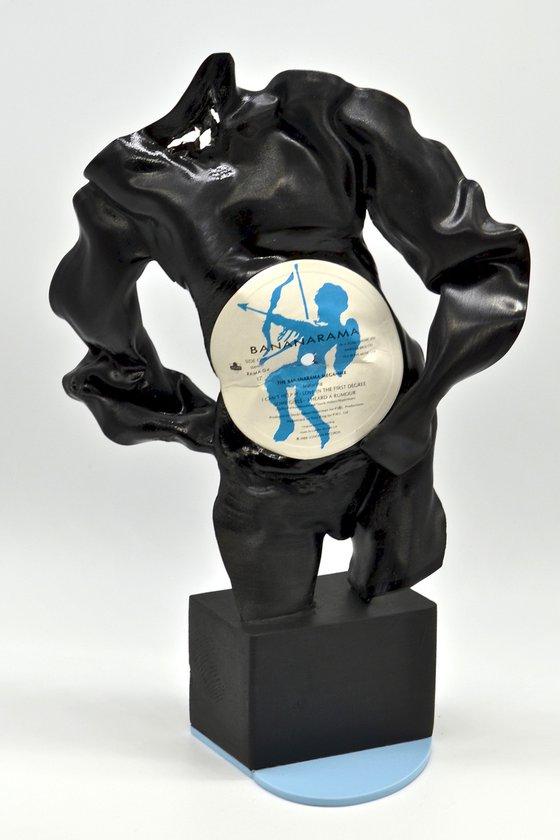 "Vinyl Music Record Sculpture - ""Half a Heart (male)"""