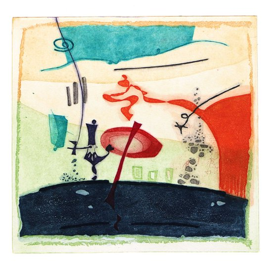 """Heike Roesel """"Commotion"""", fine art etching, edition of 20 in variation"""