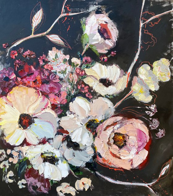BLOOMING SPRING original painting on canvas