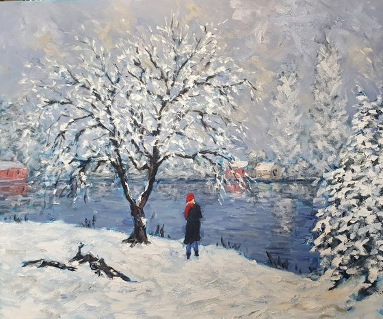 snow by the river III