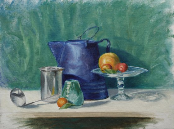 Chromatic Still Life with fruit