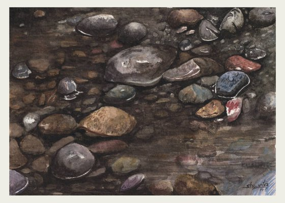Rocks Painting 3 Watercolor Painting