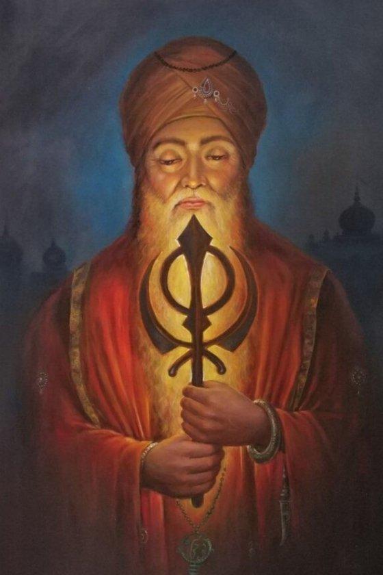 Nishan Sahib – Emblem Of Unity And Strength | Oil Painting By Hari Om Singh