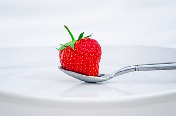 Strawberry On A Plate  - Limited Edition Print