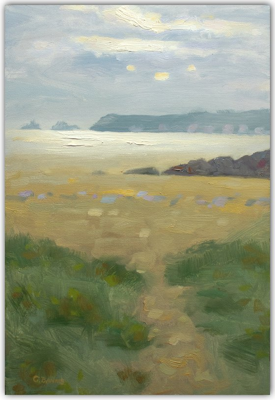 Evening on the Beach, the Brittany coast impressionist painting