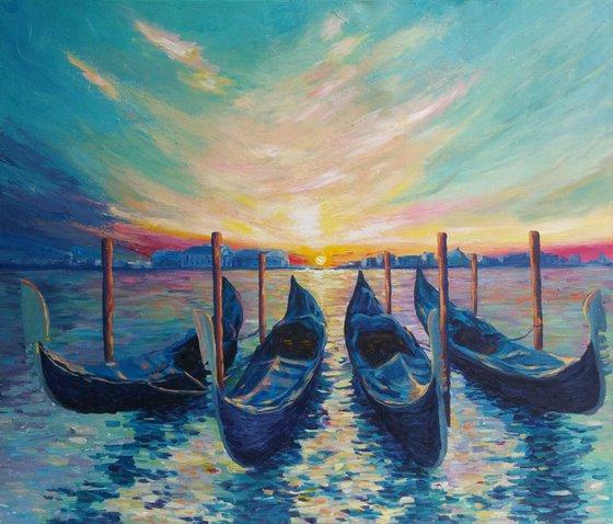 Venice, 70x60cm, (27.56''x23.62''), acrylic on canvas