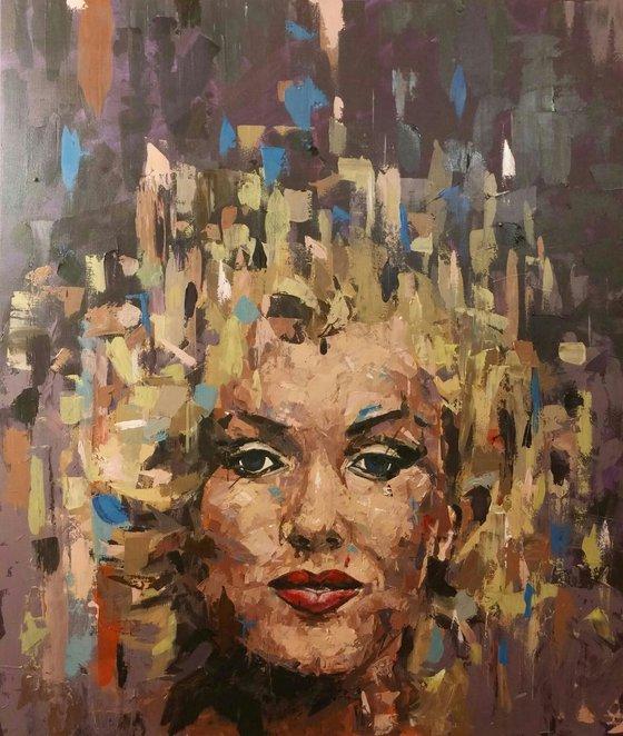 """Marilyn"", 60x70cm, (23.6''x27.6""), acrylic on canvas"