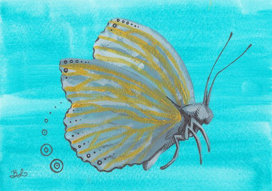 Kintsugi Butterfly Circles Study