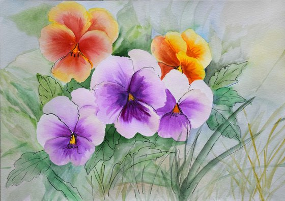 """Watercolour Flower's composition #13""21 х 29.7 (A4 size)"