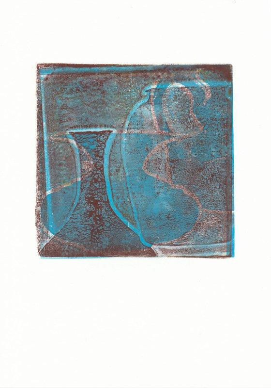 Monoprint - Still life no. 1