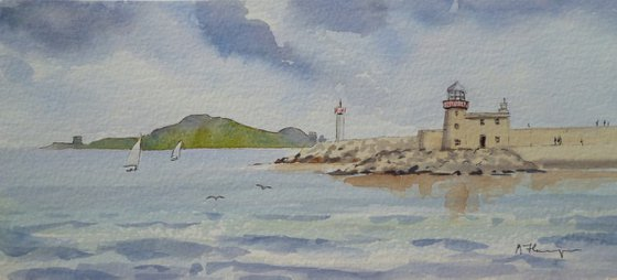 Lighthouse at Howth Pier
