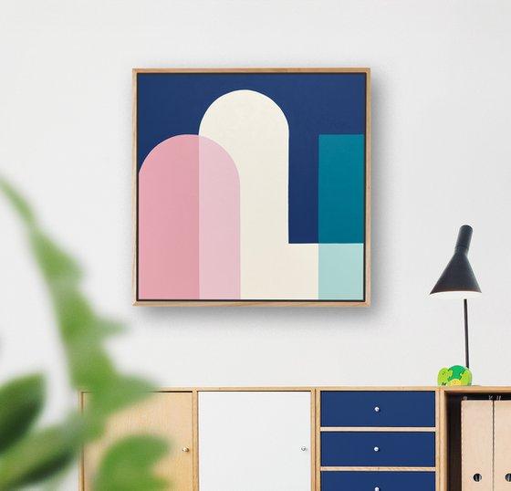 Passage (Geometric Acrylic Painting)