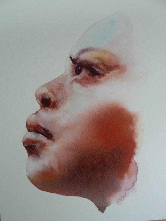 Headspace - Original Watercolour Portrait