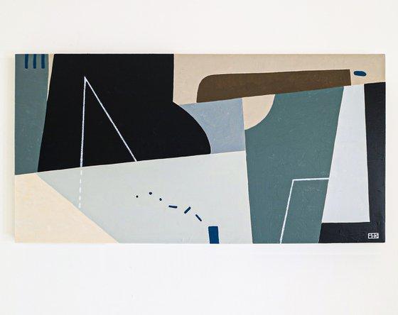 "Abstract Painting - Kafkaesque II (Original, 48""x24""   121x60 cm)"