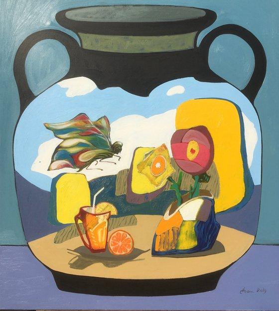Big Vase  (110x100cm, oil painting)