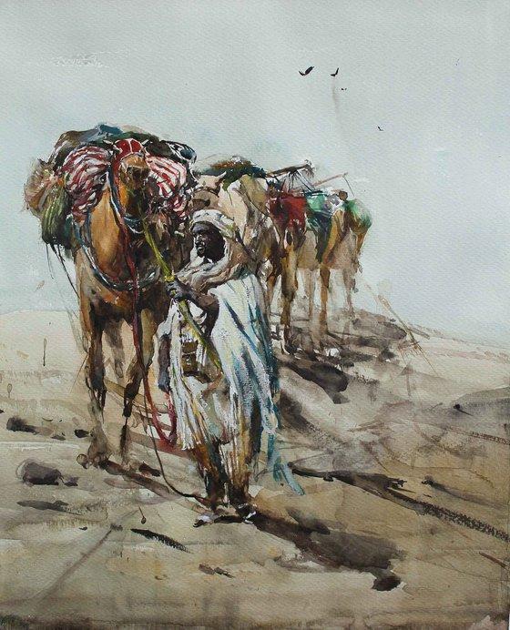 Caravan in Ancient Sahara