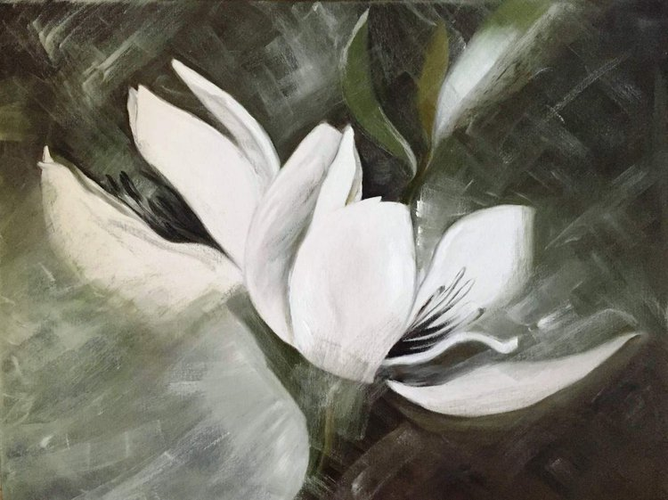 Magnolia Flower Oil Painting Artfinder
