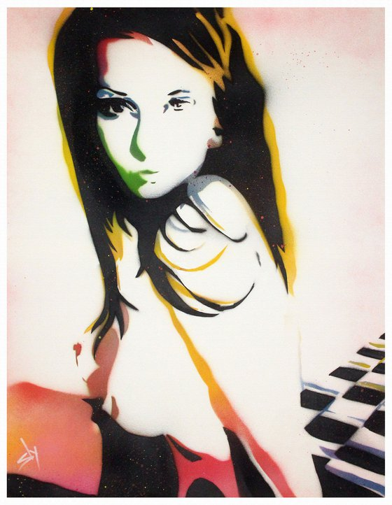 Sly girl 1  (on canvas).