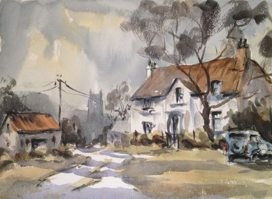 The white thatched cottage
