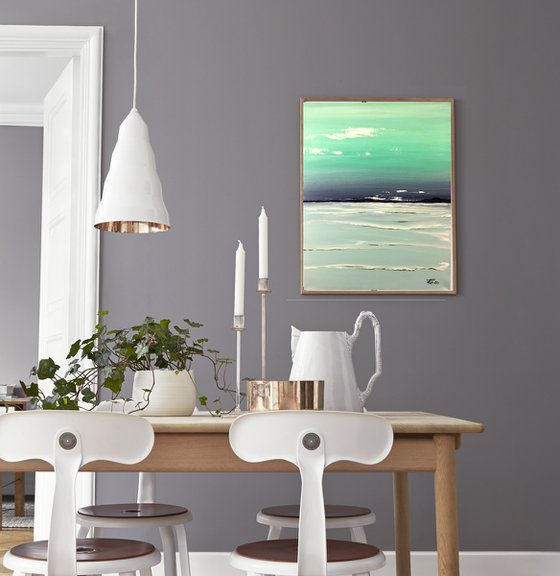 Calm wave - original acrylic on canvas - 40 x 50 cm