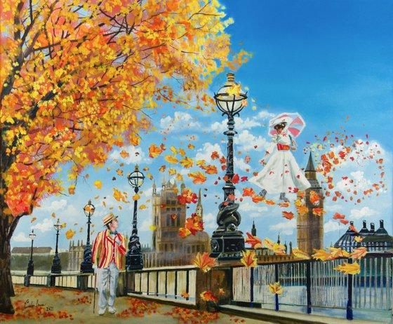 "Mary Poppins painting ""Supercalifragilisticexpialidocious"""