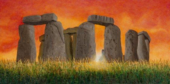 Stonehenge Sunrise, 1328 AD