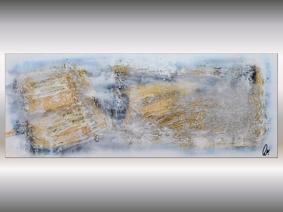 Golden Symphony  - Abstract Art - Acrylic Painting - Canvas Art -  Abstract Painting - Industrial Art