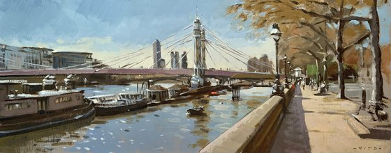 Spring afternoon, Chelsea Embankment