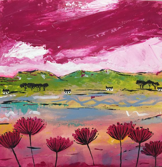 The Rosso Skies - Scottish Landscape 30x30