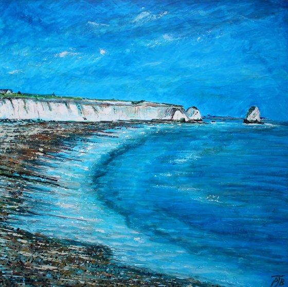 Freshwater Cliffs II ( Large 80 cm x80 cm)