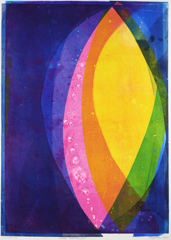 Leaf Refraction - Unmounted Signed Monotype