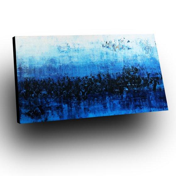 DÉJÀ BLUE - 100 x 180 CM - TEXTURED ACRYLIC PAINTING ON CANVAS * XXL SIZE