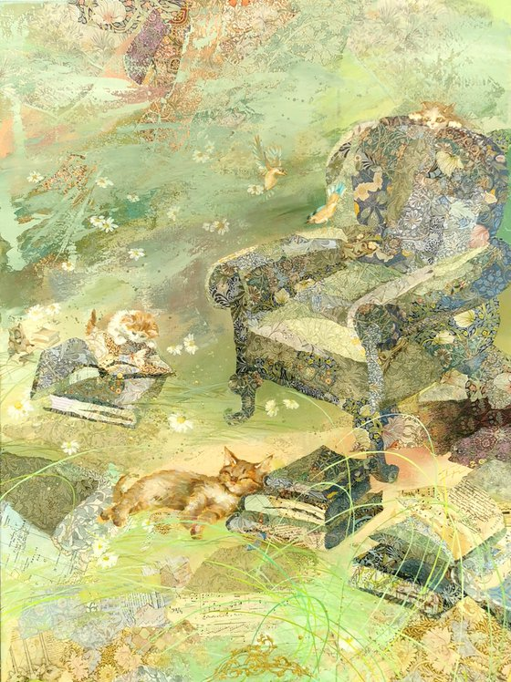 Alice`s green armchair Painting