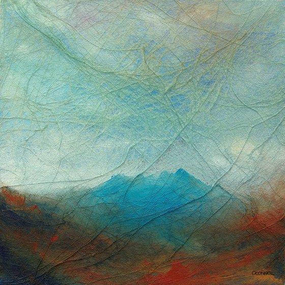 Perthshire Scottish textural mountain landscape