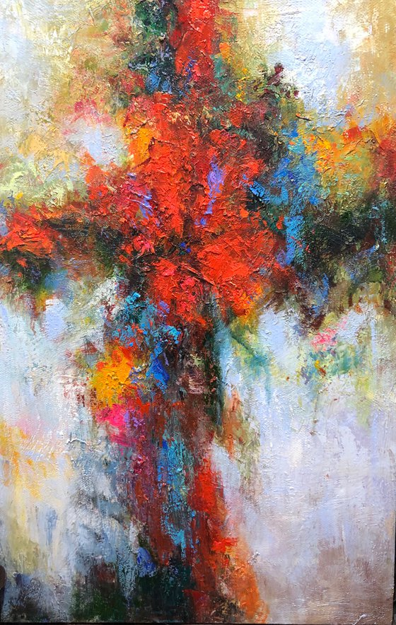 """""""Abstraction 21"""" size 60x90cm;  canvas, oil.  Free shipping"""