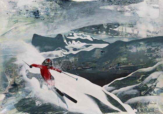 Painting   Acrylic   Skis