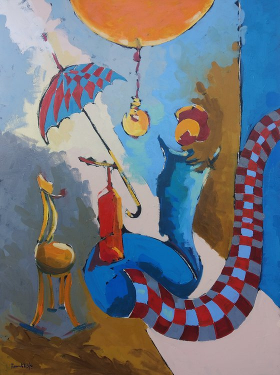 Abstract - Rest (60x80cm, oil painting, ready to hang)
