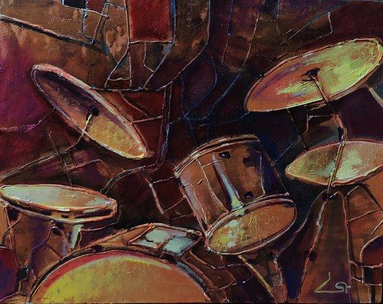 Rhythm(50x40cm, oil painting, ready to hang)