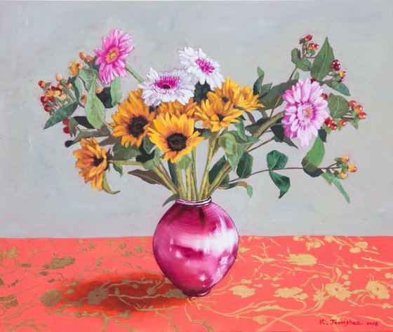 Flowers in Vase 4