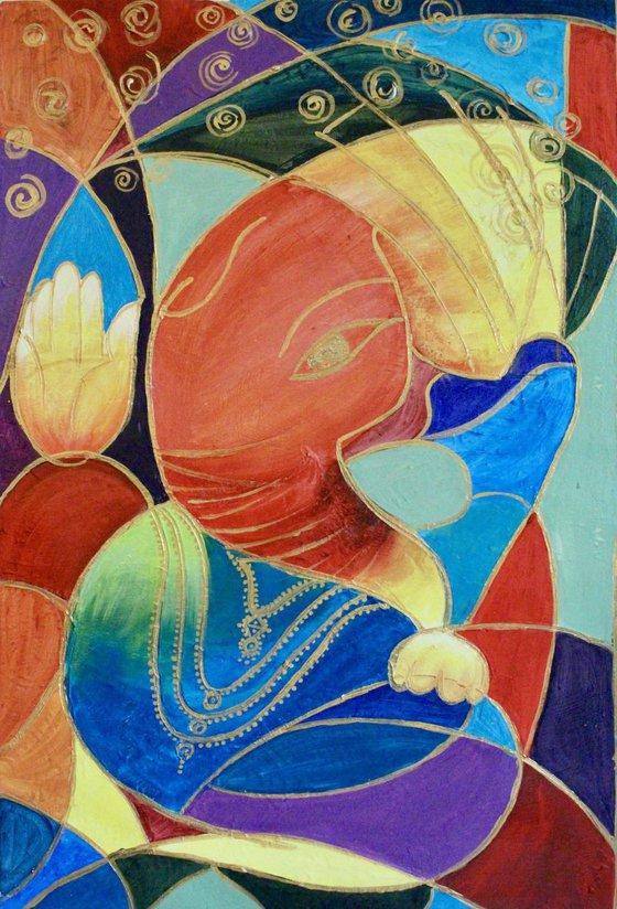 Ganesha / Modern Abstract Painting