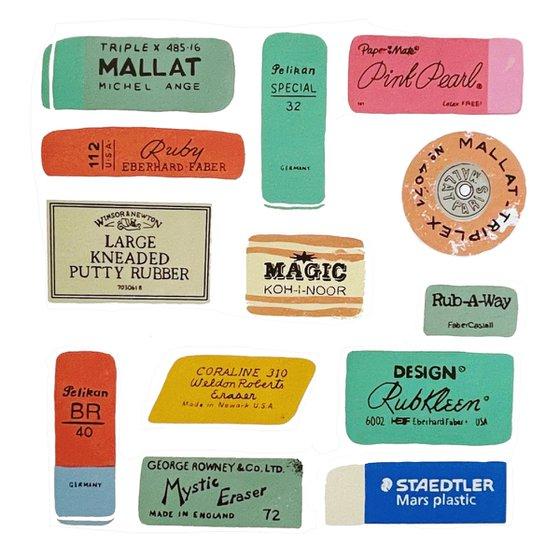 Erasers - limited-edition, eraser screen print
