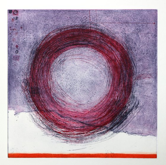 """Heike Roesel """"Loop"""" (colour composition 6) fine art etching in edition of 5"""