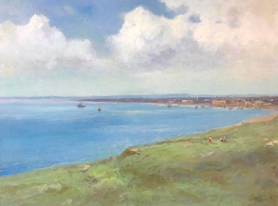 Coast-Italy, Seascape Original oil Painting, Handmade artwork, Museum Quality, Signed, One of a Kind