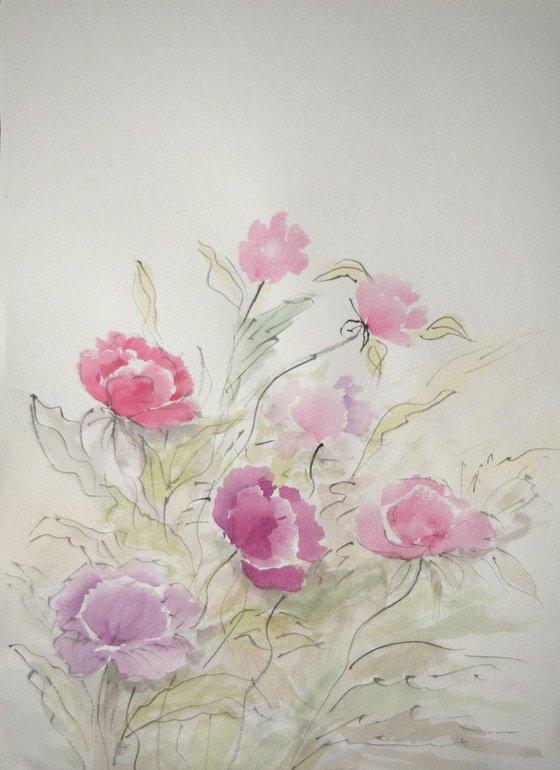 """Watercolour Flower's composition #4"" 41 х 29.5 (A3 size)"