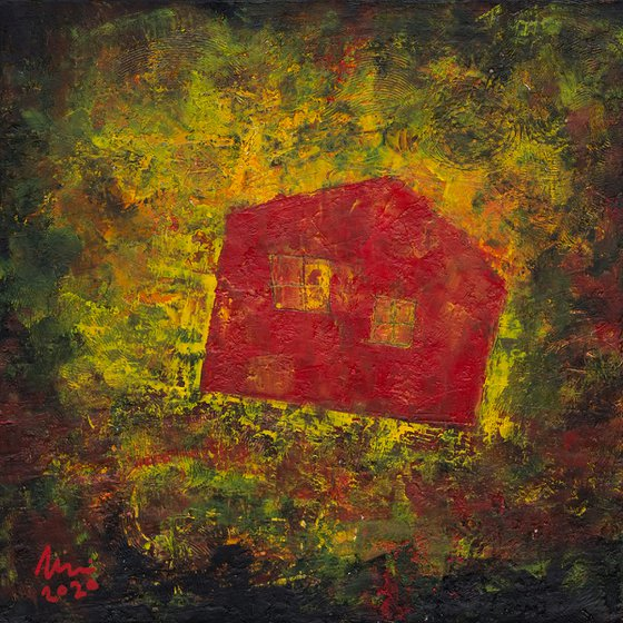 Flying Red House