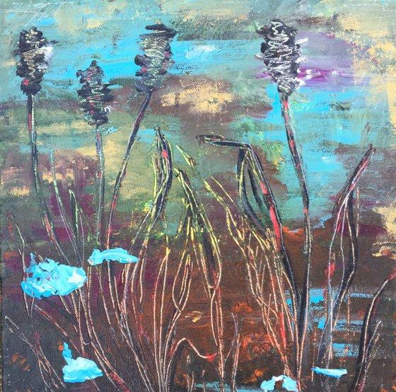 Marsh grasses. Abstract